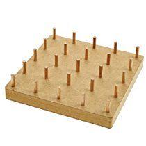 Geobrett aus Holz Lernspiel für Kinder