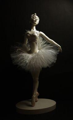 Famous Ballets, Dancing Dolls, Enchanted Doll, Ballerina Doll, Lake Art, White Swan, Ceramic Animals, Swan Lake, Bjd Dolls