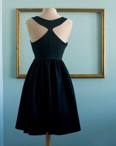 6625bcbdb45 Audrey hepburn breakfast at tiffany s black dress vintage inspired retro  dress - TIFFANY style Vintage Party