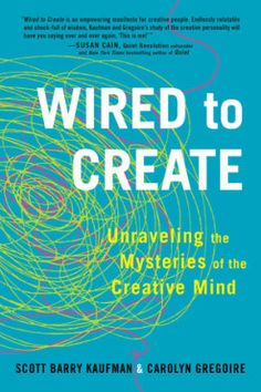 """""""Those who derive enjoyment from the act of creating and feel in control of their creative process tend to show greater creativity than those who are focused exclusively on the outcome of their work."""" Scott Barry Kaufman, Carolyn Gregoire, Wired to Create Reading Lists, Book Lists, Reading Nook, Writing A Book, Writing Tips, Quiet Revolution, Habits Of Mind, Daring Greatly, Neuroscience"""