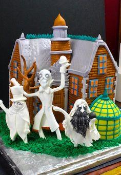 Spooky unique #groomscake #spookycake