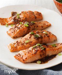 Saumon à l'érable et au balsamique #recette