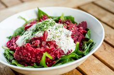 beetroot salad with spinach
