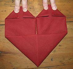 MuyVariado.com: Como Doblar Servilletas para San Valentin ...