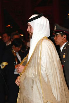 Prince Hashim of Jordan, making his appearance at the Diamond Jubilee in Thailand on June 13th 2007.