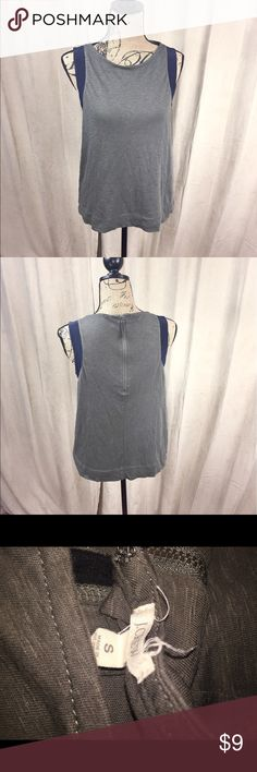 Sexy cool casual J Crew J Crew tank. Casual. Super soft lightweight material. 3/4 zip up in back. Blue trim shoulder J. Crew Tops Tank Tops