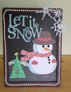 Let it Snow chalk board art