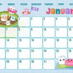 Super Cute Printable Calendar Pages for 2013 ~ great for Home Management Binder!!!