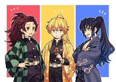 Read Tanjiro x Zenitsu x Inosuke from the story [KnY][Drop] Góc Demon Slayer by (- Manga Anime, Anime Demon, Anime Guys, Anime Art, Demon Slayer, Slayer Anime, Anime Bebe, Otaku, Anime Lindo