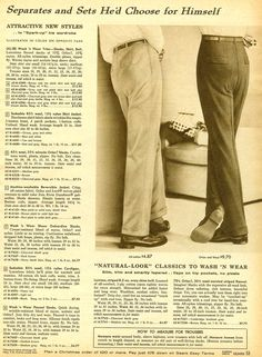 1958 mens trousers