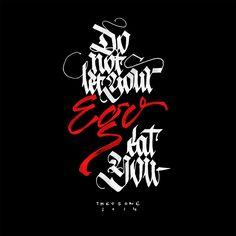 calligraphica - beware of yer ego - calligraphy pens - theosone