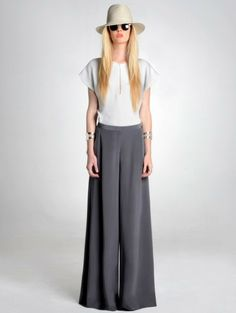 Wide leg Linen pants Palazzo Pants Skirt for Women by KSclothing ...