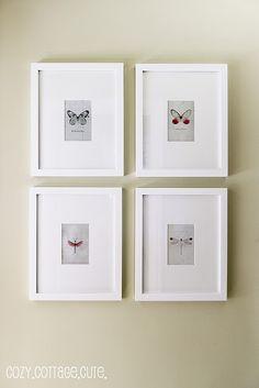 mini gallery wall.
