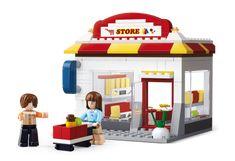 Sluban fra SBDanmark er et godt alternativ til de dyre klodser og er fuld ud kompatibel med mærker som f.eks Lego. Købmand http://www.sbdanmark.dk/index.php/town/sluban-grocer-m38-b0571