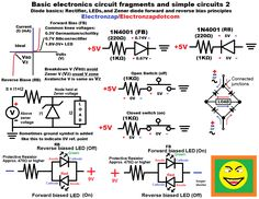 light emitting diode Basic electronics circuit fragments and simple circuits 2 diagram covering rectifier zener and light emitting diodes LEDs by electronzap electronzapdotcom Arduino, Definition Of Light, Lead Forward, Semiconductor Diode, Basic Electronic Circuits, Pr Newswire, Electrical Circuit Diagram, Simple Circuit, Navigation Lights