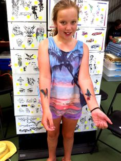 It was an absolute  pleasure to airbrush tattoo this lovely gal with 2 very pretty butterflies.