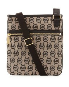 MICHAEL Michael Kors  Large Monogram Canvas Crossbody. pretty good!!
