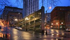 The Sinking Ship Parking Garage in Seattle's Pioneer Square