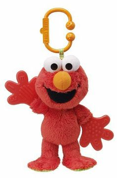 Sesame Street Teether Baby Rattle Toy: http://www.amazon.com/Sesame-Street-Teether-Baby-Rattle/dp/B0035ER5DS/?tag=headisstrandh-20