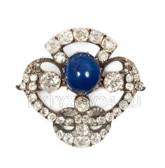 Sapphire brooch, Russia