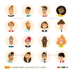 People Avatars Collection Vector EPS. Download here: https://graphicriver.net/item/people-avatars-collection-/16148046?ref=ksioks