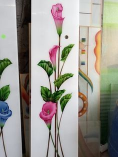 Glass Etching Designs, Glass Painting Designs, Paint Designs, Front Door Design Wood, Glass Front Door, Window Glass Design, Ceiling Design, Windows, Doors