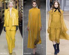 Sfilate Moda autunno inverno 2016 2017 Colore Spicy Mustard - Lei Trendy