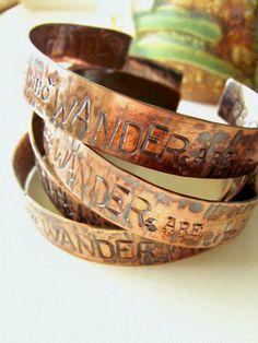 WANDER Copper Bark Textured Cuff Pennsylvania by stephaniedistler, $36.00