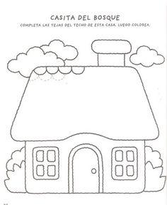 Art Drawings For Kids, Outline Drawings, Drawing For Kids, Art For Kids, House Colouring Pages, Coloring Book Pages, Free Adult Coloring, Coloring Pages For Kids, Beautiful Flower Drawings