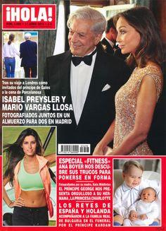 Isabel Preysler y Mario Vargas Llosa: la extraña pareja portada de '¡Hola!'