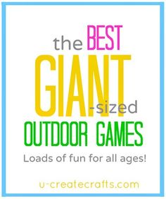 Giant-Sized Outdoor Games for all ages!!