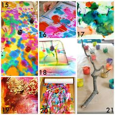 21 painted branch for Chuily sculpture - 50 Easy Process Art Activities for Kids from Fun at Home with Kids