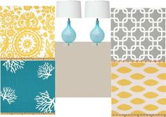 """""""aqua, gold (yellow), and grey"""" by kirstenmp on Polyvore"""