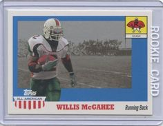 2003 Topps All American Willis McGahee RC