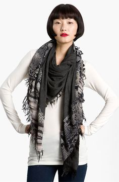 Nordstrom Collection Snake Print Scarf available at #Nordstrom ..want spice! #scarfobsession