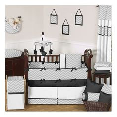 Sweet Jojo Designs Zig Zag 9 Piece Crib Bedding Set