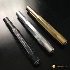 Goldspot Pens Fine Writing Blog: A Trio of Kaweco Sport Pens - AL Raw, Brass and Stonewashed Review
