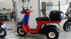 Honda gyro x oil and gas tank clean repair