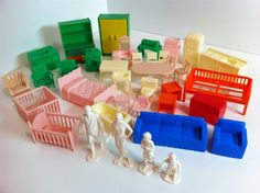 1960's dolls | Vintage 1960'S Plastic Dolls House Furniture Bulk LOT People Fridge ...