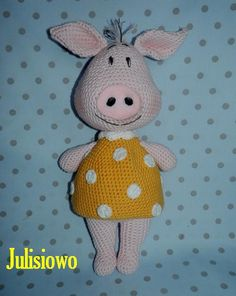 Rosa crochet  piggy  PDF pattern by Julisiowo on Etsy