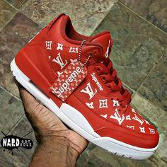 Supreme x Louis Vuitton x Air Jordan 3 - Louis Vuitton Sneakers, Louis Vuitton Hombre, Zapatillas Louis Vuitton, Luis Vuitton Shoes, Sneakers Mode, New Sneakers, Custom Sneakers, Custom Shoes, Sneakers Fashion