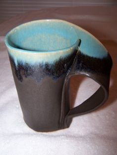 Panama Red and Tea Dust Slab-built Mug