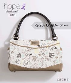 Miche Hope (Dove) Classic Shell. A portion of every Miche Hope Shell purchase, goes to cancer research