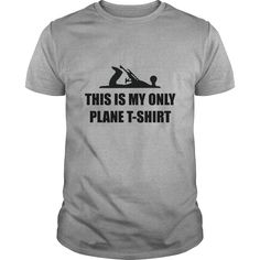 This is my only Plane T-Shirts, Hoodies. Get It Now ==► https://www.sunfrog.com/Hobby/This-is-my-only-Plane-t-shirt-Sports-Grey-Guys.html?id=41382