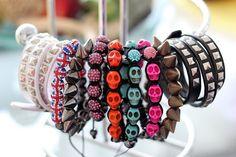 skull and rivets bracelet