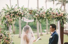 Garden wedding at Th
