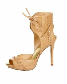 ♥ Lace up leather- bebe heels