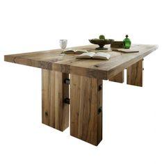 Daisy massivholz wangen esstisch eiche in 5 gr en 180x90 for Esstisch naturholzplatte