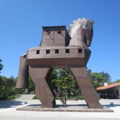 Trojan Horse, Troy, Turkey. #troy #turkey #trojanhorse #rtw #travel #horse