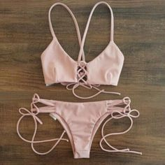 Pink Swimsuit Swimwear Bikini Set – Lily & Co.